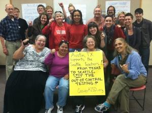 Occupy AISD Solidarity Photo
