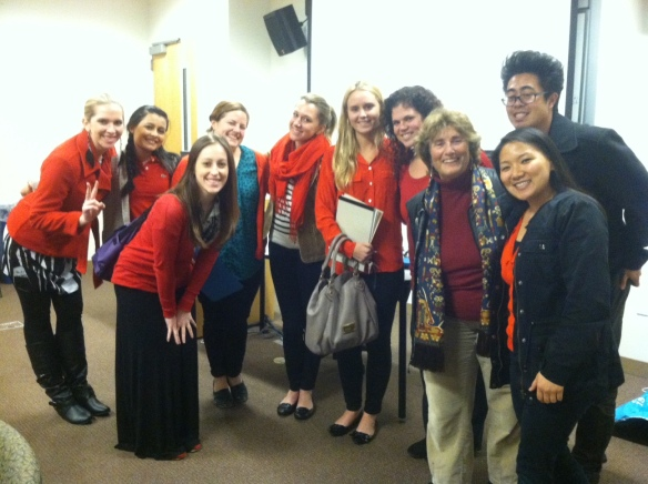 The students of Leadership and Collaboration in Democratic Organizations at Chapman University in Orange, California, wore red on the day of action on February 6 to support your incredible stand against the standardization of education. Thank you for your courage and voice! You inspire! :)