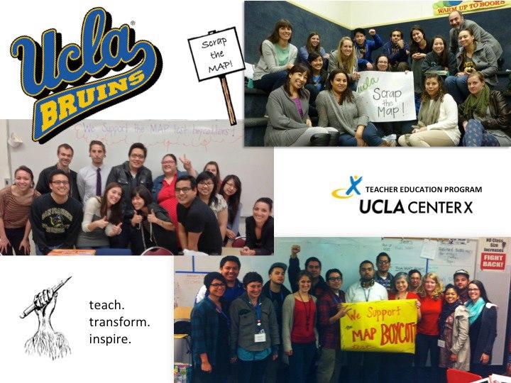 UCLA Teacher Education Program Solidarity Photo | Scrap the MAP!